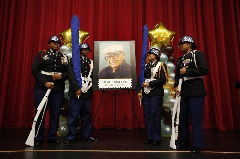 Jaime Escalante stamp unveiled at Garfield High ceremony