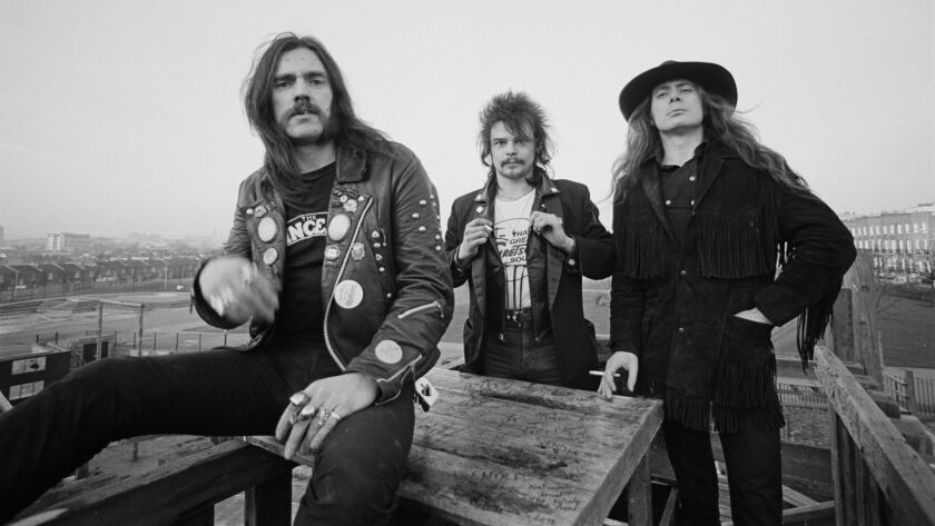 "The original lineup of the British rock band Motorhead in London in 1980: Lemmy Kilmister, from left, Phil Taylor and ""Fast"" Eddie Clarke."