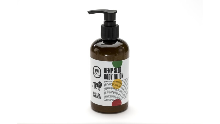 Marley Natural Hemp Seed Body Lotion.