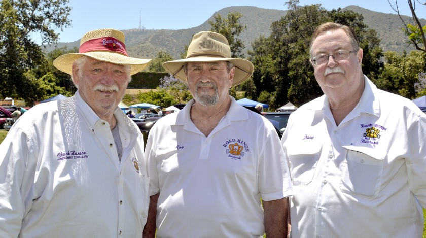 Geared-up for last Sunday's car show, the biggest one they've ever staged, are co-chairs Chuck Hanso