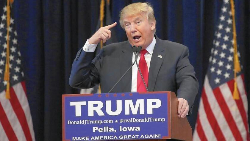 """Donald Trump dijo el domingo que como Presidente estaría dispuesto a usar la tortura, porque Estados Unidos """"vive en una época que es la más maligna que haya existido""""."""