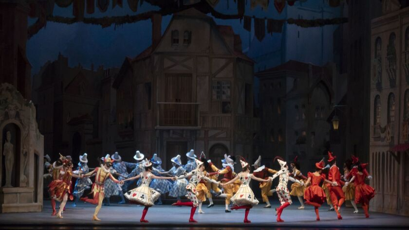"A scene from the ballet ""Harlequinade,"" which is coming to Costa Mesa's Segerstrom Hall following a New York run."