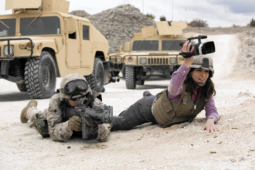 Evan Jonigkeit and Tina Fey in 'Whiskey Tango Foxtrot'
