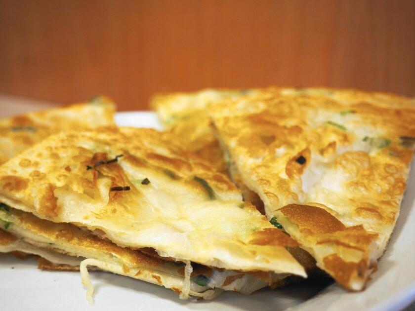 Scallion pancake from Mandarin Deli