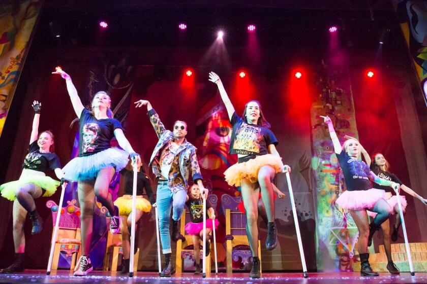 Sugar Plum Fairies perform hip-hop dance in 'A Culture Shock Nutcracker,' with their Master of Ceremonies.