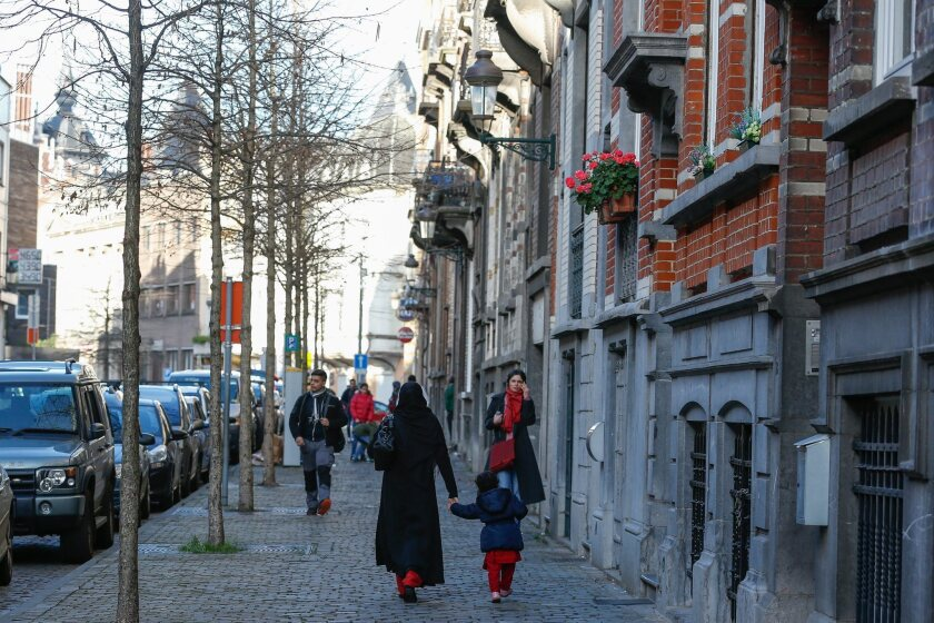 A view of Rue Henri Berge in the the Belgian capital of Brussels.