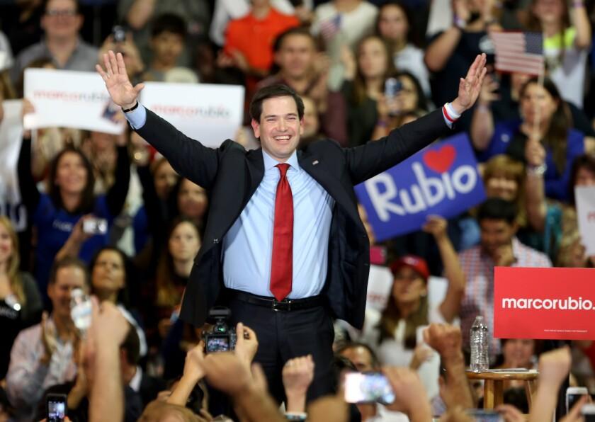 Marco Rubio appears in Miami.