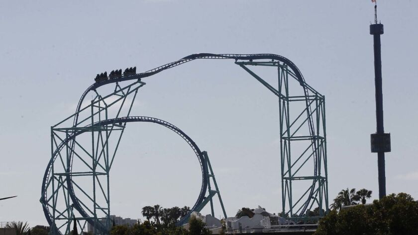 The Electric Eel roller-coaster opened May 10 at SeaWorld San Diego.