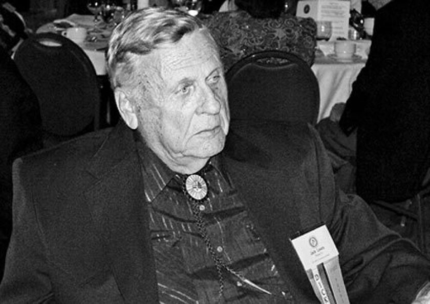 """Jack Lewis was a self-described """"reporter, drunk, editor and hobo."""" In addition to being a screenwriter, pulp novelist and occasional movie stuntman, he was co-founder of Gun World magazine."""