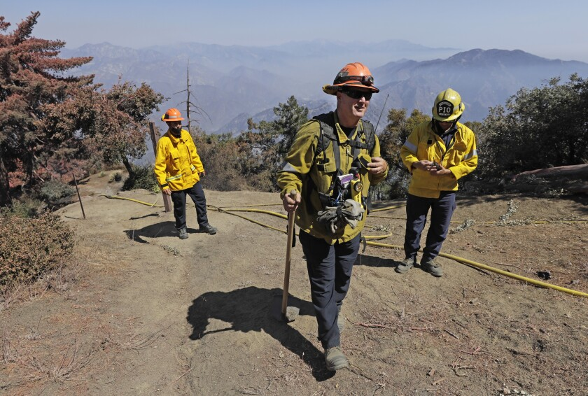 Fire Capt. Dave Gillotte and his team fought the Bobcat fire, which approached Mt. Wilson from three directions.