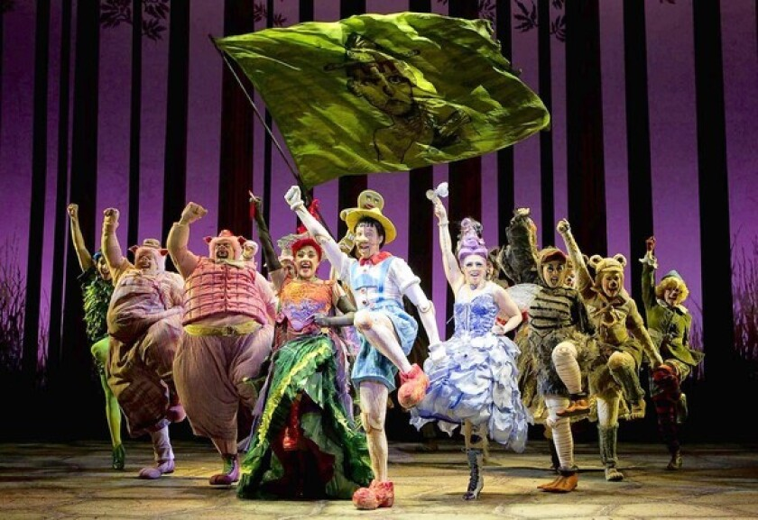 Shrek Musical Adds Layers To Film Franchise Los Angeles Times