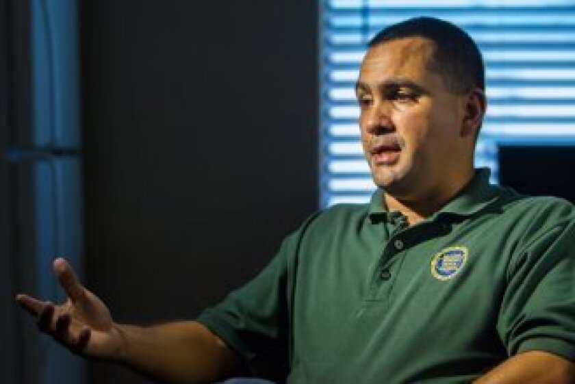 Christopher Cabrera, a local vice president of the National Border Patrol Council, says stations typically bring in a cleaning crew ahead of time when they know a tour or special investigative inspection is scheduled. Credit: Douglas Young/For The Center for Investigative Reporting