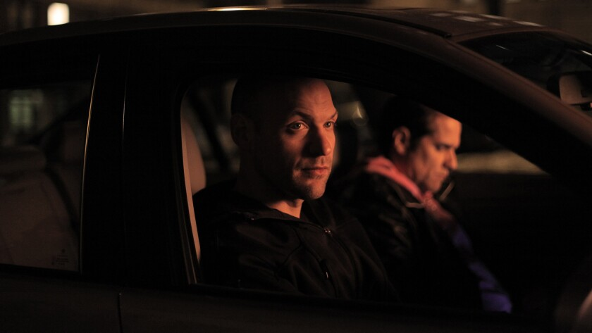 """Corey Stoll with Yul Vazquez in the movie """"Glass Chin,"""" directed by Noah Buschel."""