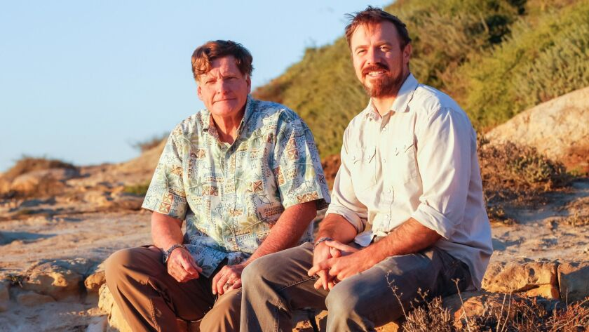 Ed Gillet, 67, and Dave Shiley, 37, at the Torrey Pines Glider Port in La Jolla