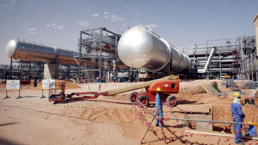 Saudi Aramco oil infrastructure in Riyadh, Saudi Arabia