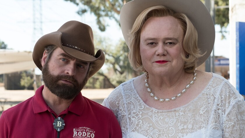"Zach Galifianakis, left, and Louie Anderson in the third season premiere of ""Baskets"" on FX."
