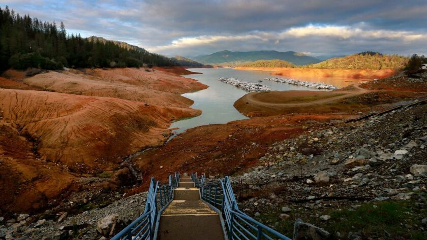 In June 2014, Lake Shasta was at 37% of capacity due to the long California drought.