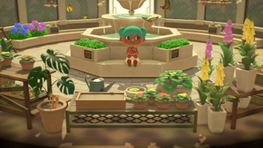 """Do nothing but hang in a garden that you helped build in """"Animal Crossing: New Horizons."""""""