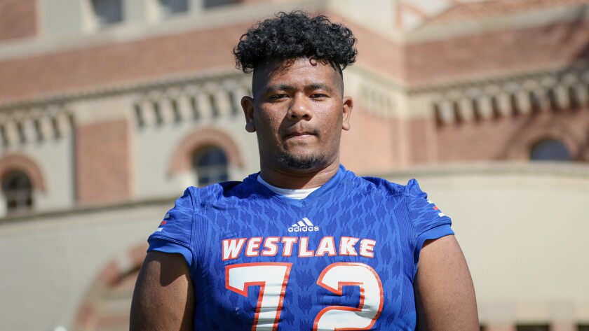 Westlake defensive tackle Victory Vaka is drawing attention from national programs before entering his junior year.