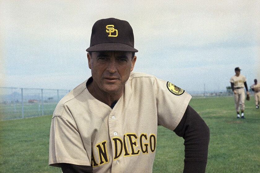 Preston Gomez, manager of San Diego Padres in 1969.