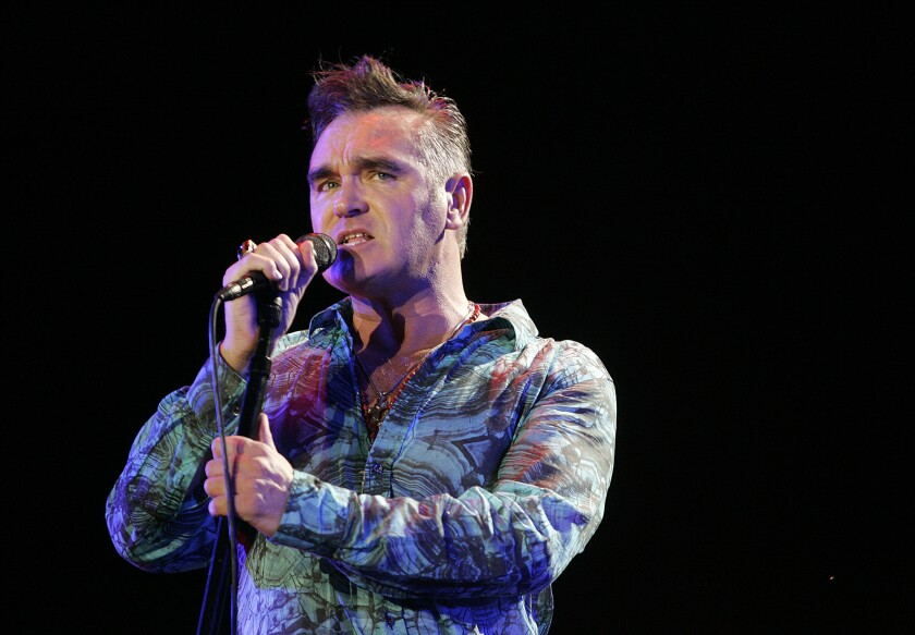 Morrisey performs in 2009 at the Coachella Valley Music and Arts Festival. The 56-year-old singer says he was groped by a TSA agent Monday, July 27, at the San Francisco International Airport.