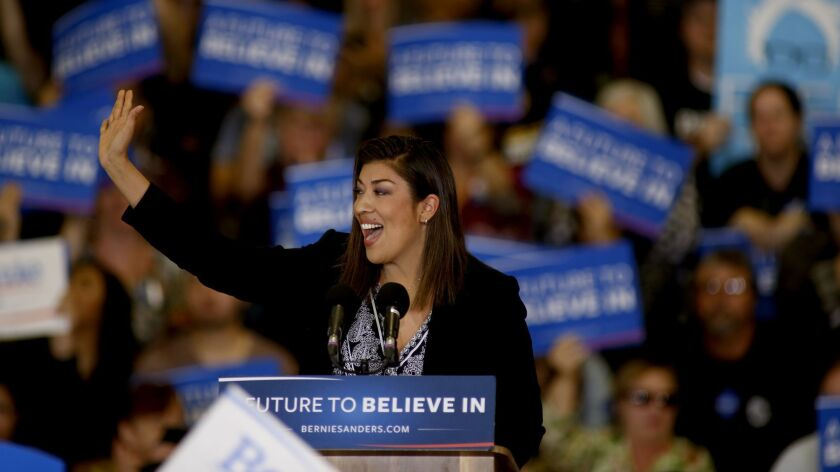 LAS VEGAS, NV - FEBRUARY 14, 2016: Lucy Flores, Las Vegas Democratic candidate for Congressional Dis