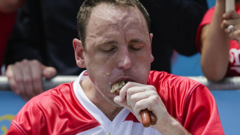 Competitive Eaters Gorge At Annual Nathan's Hot Dog Eating Contest
