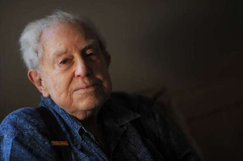 Composer Elliott Carter, shown at his New York home in 2008. The renowned composer, 103, was one of several notable classical-music figures who died in 2012.