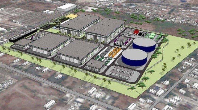 Rendering of NSC Agua desalination plant proposed for Baja California.