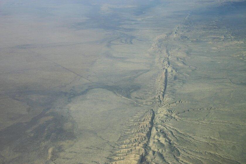 The Corrizo plain region of the San Andreas fault