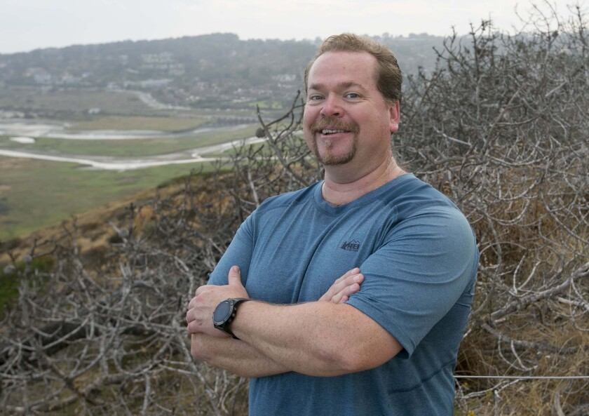 "Brad Spiess recommends that visitors from out of town hike at Torrey Pines State Natural Reserve. He calls it ""the quintessential San Diego experience."""