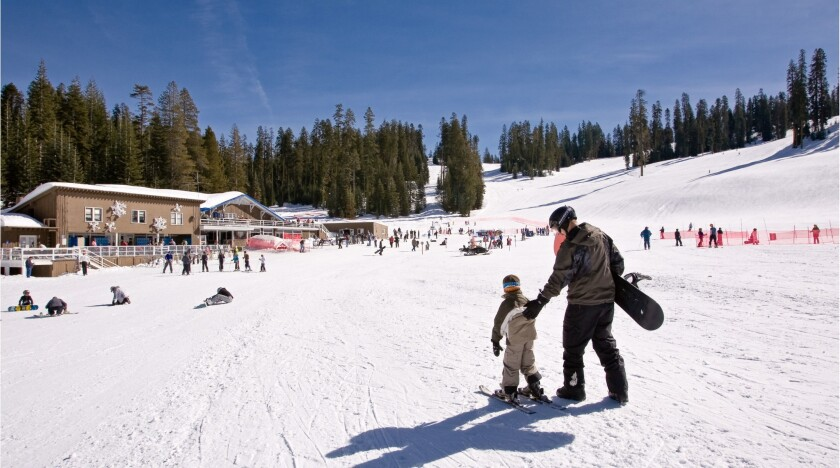 The Yosemite Ski & Snowboard Area covers about 90 acres at the national park.