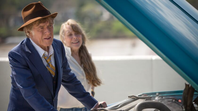 """Robert Redford as """"Forrest Tucker"""" and Sissy Spacek as """"Jewel"""" in the film THE OLD MAN & THE GUN. Ph"""