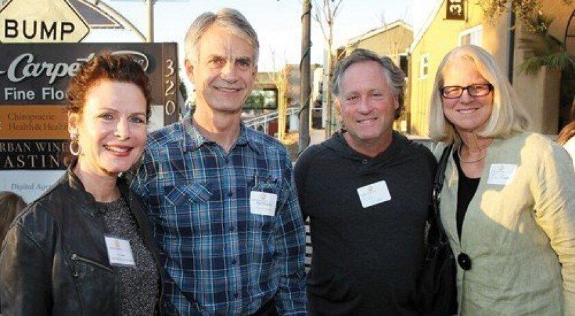 Solana Beach Councilwoman Lesa Heebner, Karl Rudnick, Rob Wilder, Jill Cooper (Photo: Jon Clark)