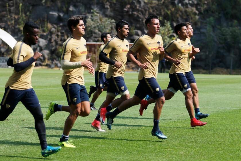 La sesión de los Pumas UNAM en sus instalaciones de La Cantera, en el sur de Ciudad de México.