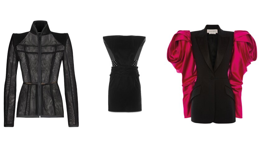 Strong-shouldered silhouettes from Fendi, Saint Laurent and Alexander McQueen.