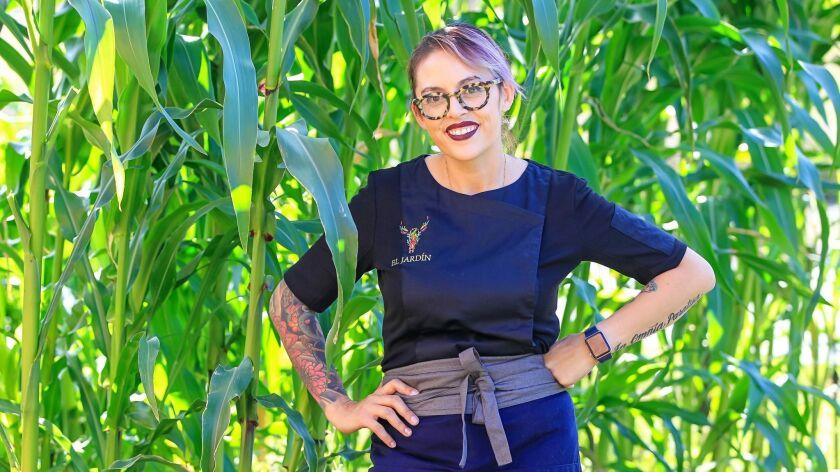 SAN DIEGO, CA June 28th, 2018 | This is chef Claudette Zepeda-Wilkins at El Jardin restaurant at Lib