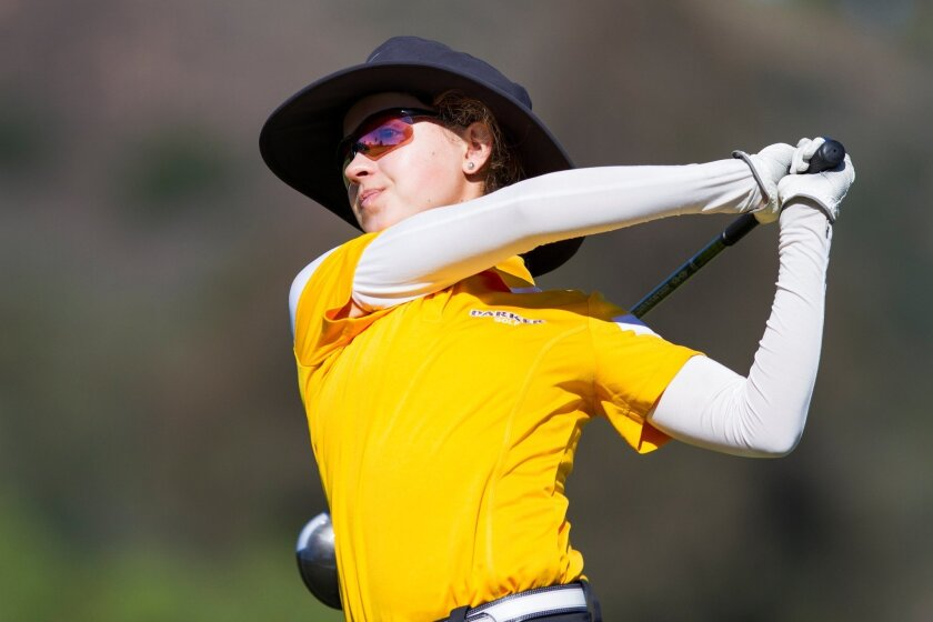 Francis Parker freshman Brooke Seay clinched the win with a 1-under-par total of 143 over two rounds at the Admiral Baker South Golf Course.