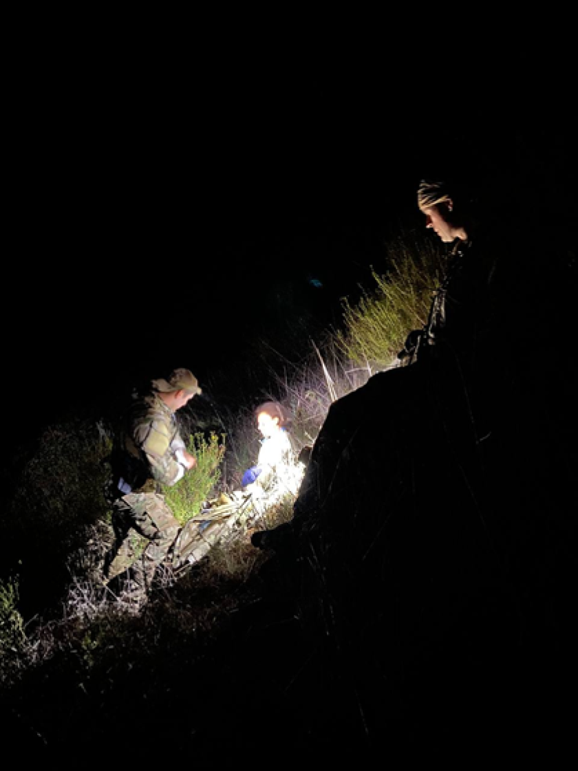 Border Patrol agents and Cal Fire firefighters rescued a woman who was lost and injured in the Otay Mountain area Sunday.
