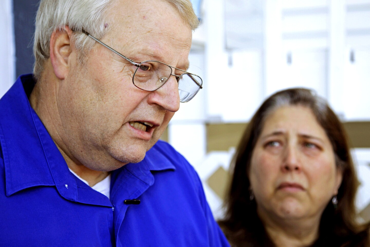 Chuck and Judy Cox, the parents of missing Utah mother Susan Powell, talk to reporters at their home in Puyallup, Wash. Their two young grandsons, Charles and Braden, were killed a day earlier by their father, Josh Powell, who then killed himself in a fire. Susan Powell went missing from her West Valley City, Utah, home in December 2009.