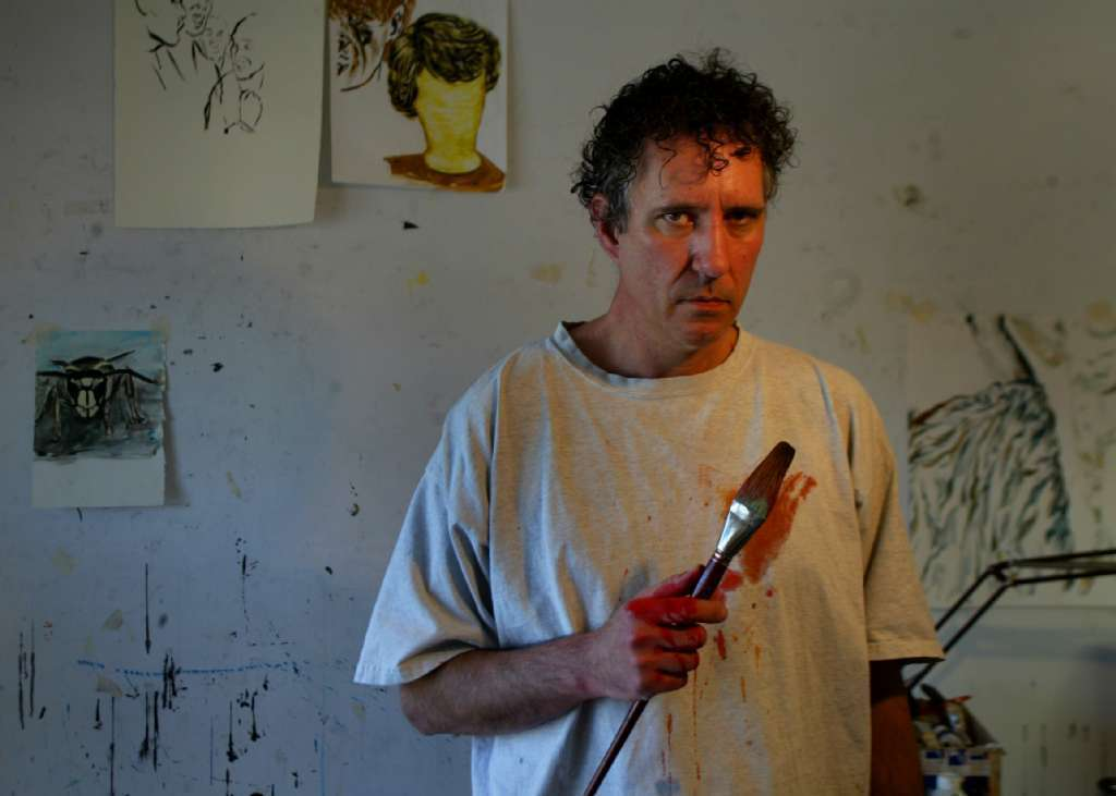 A 2005 file photograph from The Times' archives shows artist Raymond Pettibon at work at his home in Long Beach.