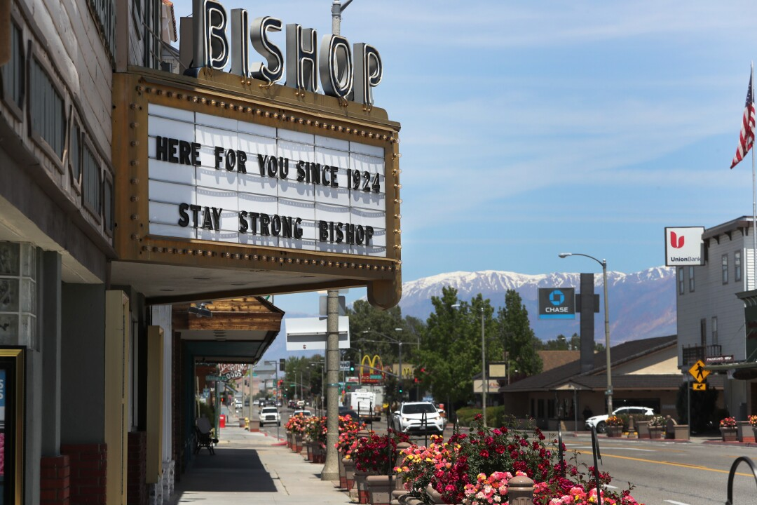 A view of Bishop, Calif. Small-business owners along the 395 corridor are dealing with closures and pondering what happens next as California eases restrictions.