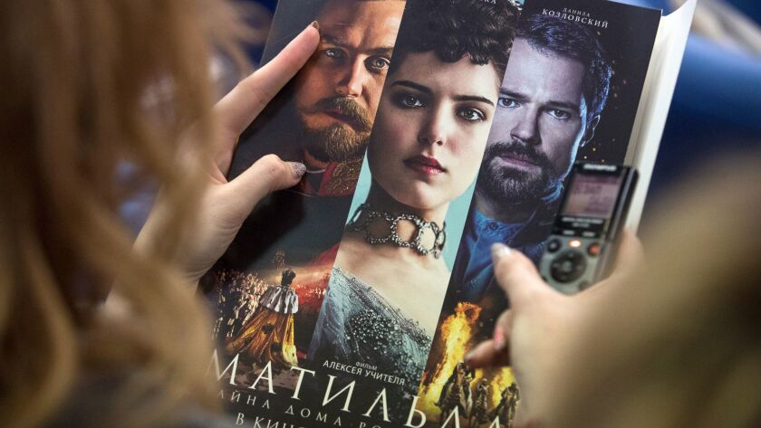 """""""Matilda"""" has drawn violent blowback from hard-line religious conservatives who oppose the film's depiction of a love affair between future Czar Nicholas II and a teenage ballerina."""