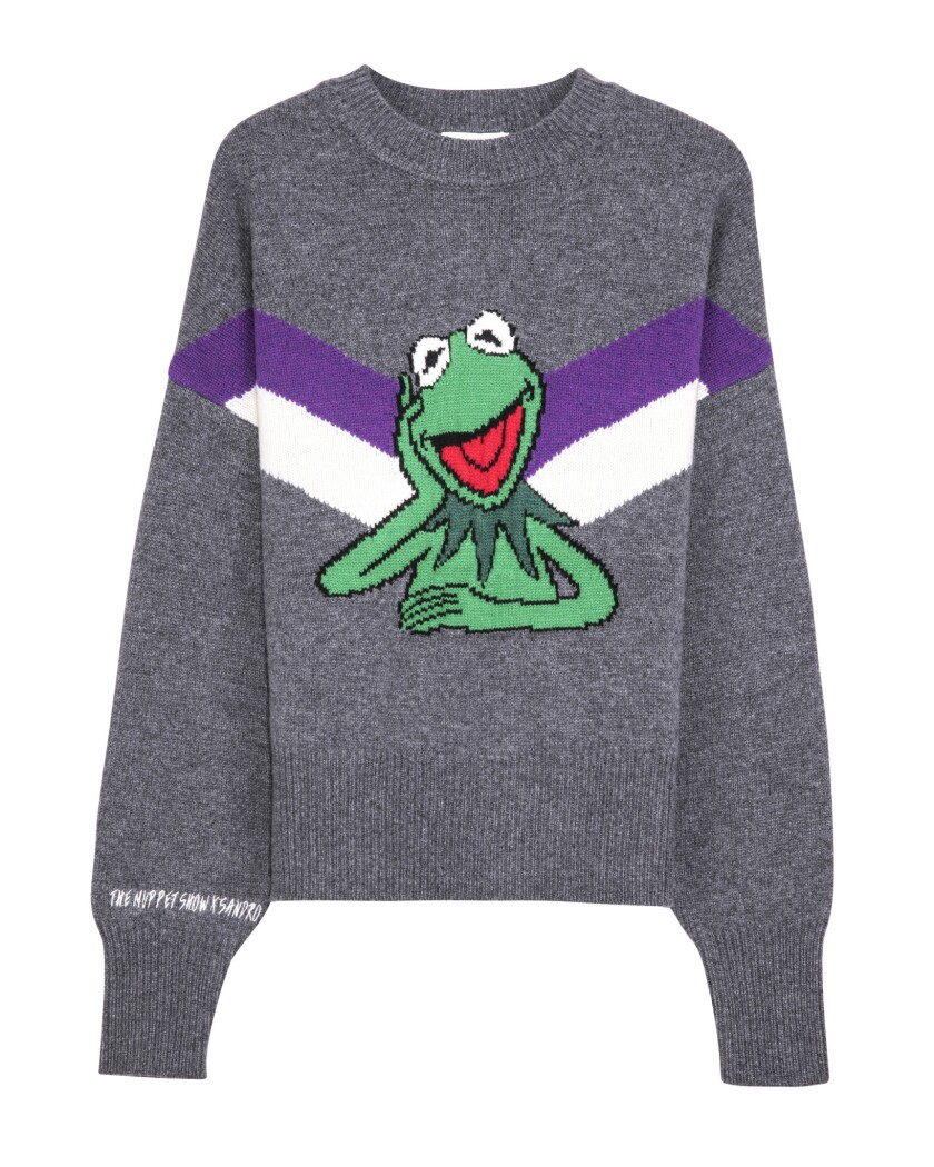 A collaboration between French brand Sandro and The Muppet Show is heavy on Kermit The Frog clothing