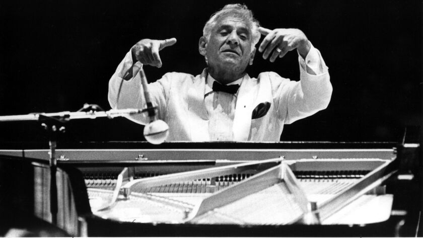 "Leonard Bernstein conducts and plays Gershwin's ""Rghapsody in Blue with the LA Phil at the Hollywood"