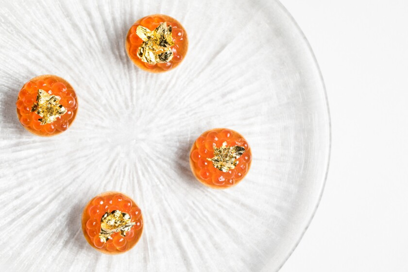 $1,000 caviar and champagne dinner