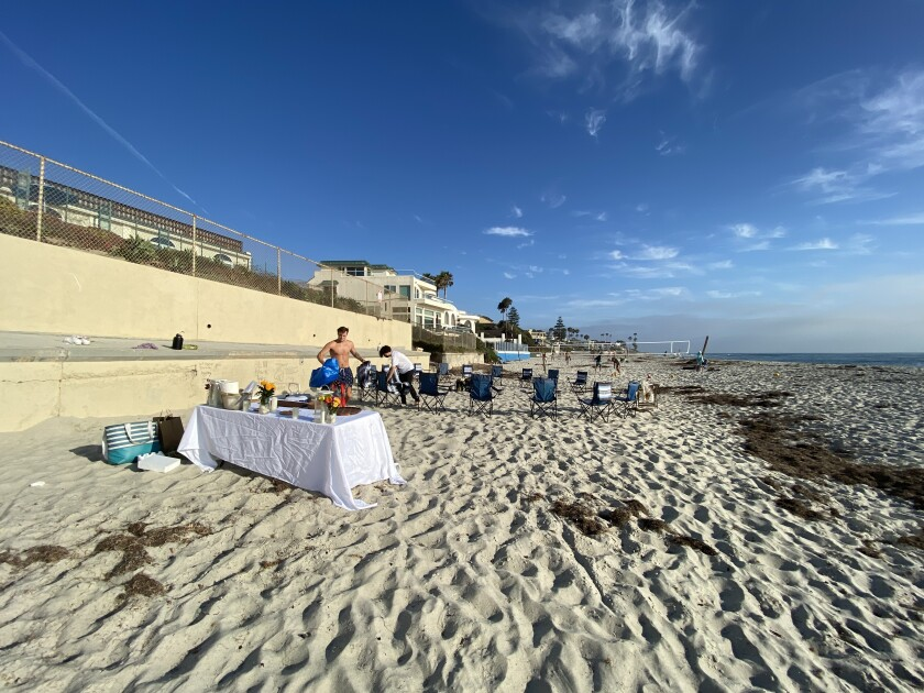 A Timeless Day offers bonfire parties at La Jolla's Marine Street Beach in the company's own portable fire pit.