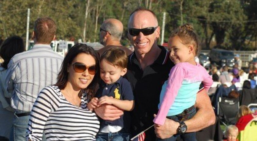 Former NFL quarterback Jeff Garcia with his wife, Carmella, son Jax and daughter Presley (Photo: Nick Morris)