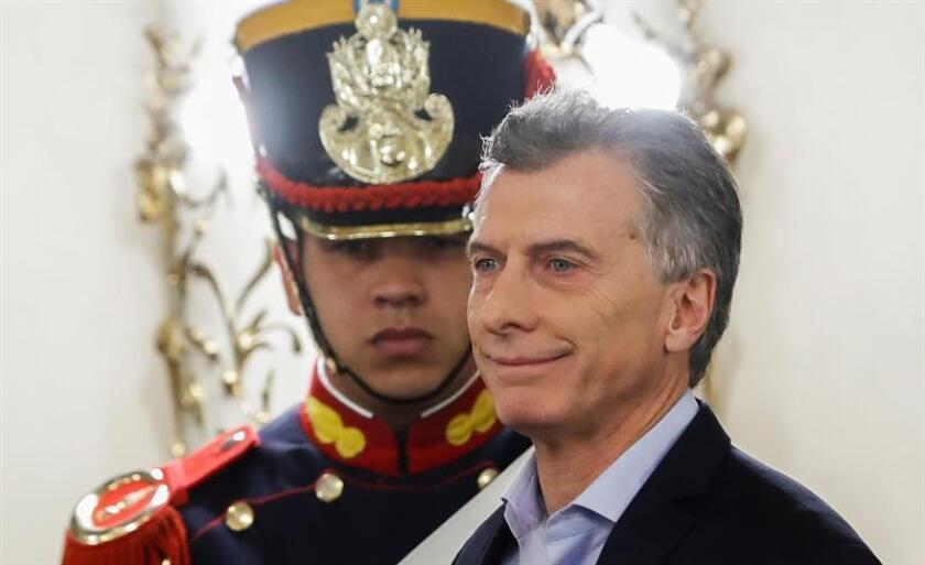 El presidente argentino Mauricio Macri. EFE/Archivo