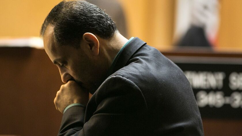 Morrad Ghonim at his trial in Norwalk this year.